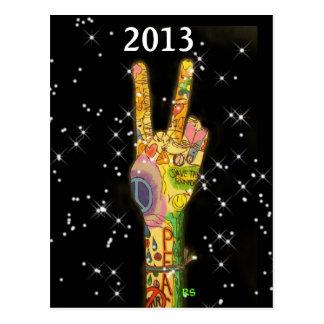 Año Nuevo 2013 del fiesta de la paz Postal