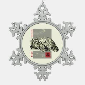 Año Nuevo 2014. Año chino de los ornamentos del ca Adorno
