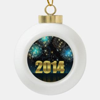 Año Nuevo 2014 del ornamento Adorno