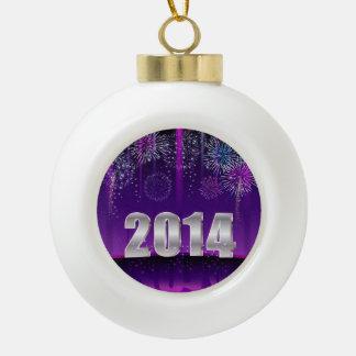 Año Nuevo 2014 del ornamento Adorno De Cerámica En Forma De Bola