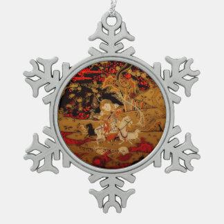 Año Nuevo chino 2015 - tapicería del chino de las Adorno De Peltre En Forma De Copo De Nieve