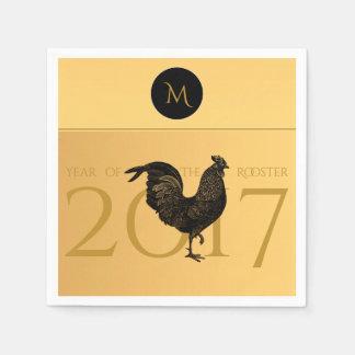 Año Nuevo chino 2017 N de papel del gallo del Servilletas De Papel