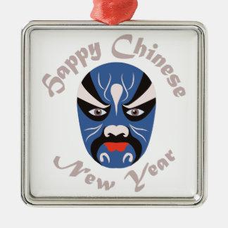 Año Nuevo chino Adorno Navideño Cuadrado De Metal