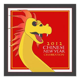 Año Nuevo chino de la invitación del fiesta del
