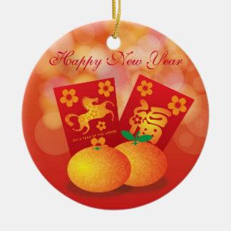 Año Nuevo chino de las mandarinas del caballo Ornamente De Reyes
