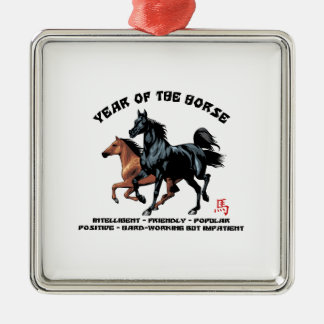 Año Nuevo chino del caballo Ornaments Para Arbol De Navidad