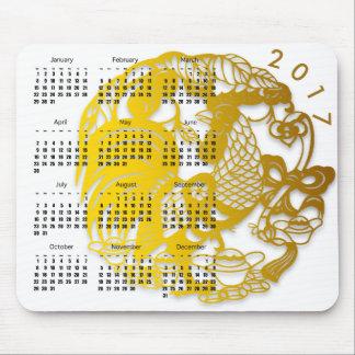 Año Nuevo chino del calendario Mousepad del gallo Alfombrilla De Ratón