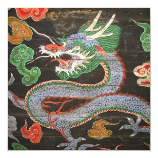 Año Nuevo chino del dragón asiático brillante Invitación 13,3 Cm X 13,3cm