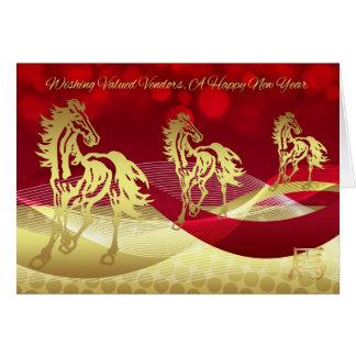Año Nuevo chino del vendedor, año del caballo Tarjeta De Felicitación