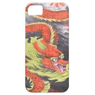 Año Nuevo chino, dragón chino anaranjado iPhone 5 Funda