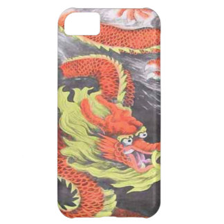 Año Nuevo chino, dragón chino anaranjado Funda Para iPhone 5C