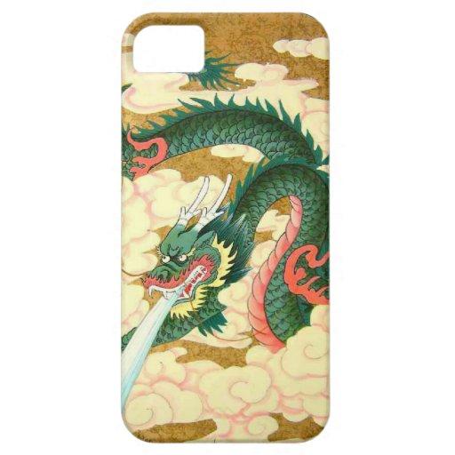 Año Nuevo chino, dragón verde iPhone 5 Case-Mate Funda