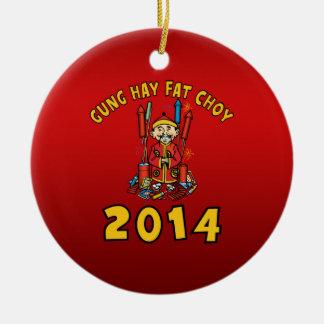 Año Nuevo chino feliz 2014 Ornamentos De Reyes Magos
