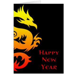Año Nuevo chino feliz: año del dragón 2012 Tarjeta Pequeña