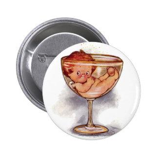 Año Nuevo del bebé en el vidrio de Champán Pin