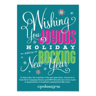 Año Nuevo feliz y oscilante Invitación 12,7 X 17,8 Cm