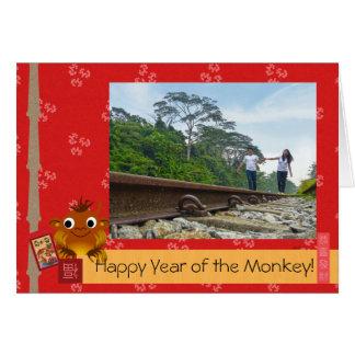 Año Nuevo lunar chino (mono) Tarjeta De Felicitación