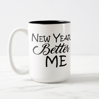 Año Nuevo mejor yo taza