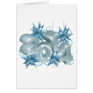 Año Nuevo o navidad 2014 decoraciones Tarjeta De Felicitación