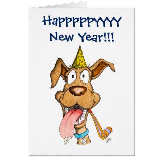Año Nuevo: Perro (auge del auge) Tarjeta De Felicitación
