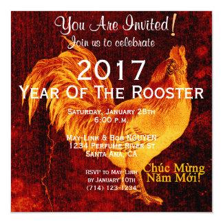 Año Nuevo vietnamita 2017 del gallo de encargo del Invitación 13,3 Cm X 13,3cm