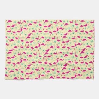 Años 50 hábiles - toalla de té rosada de los