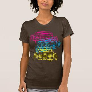 años 80 Boomboxes estarcido Camiseta