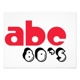 Años 80 de ABC Invitacion Personalizada