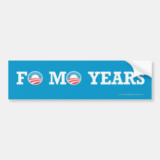Años de las FO MES del pegatina de Favorable-Obama Pegatina Para Coche
