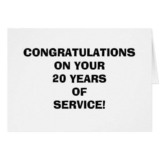 Años divertidos del empleado de tarjeta del servic