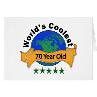 Años más frescos del mundo los 70 tarjeta de felicitación