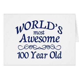 Años más impresionantes del mundo los 100 tarjeta