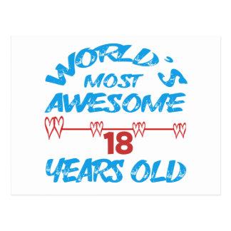 Años más impresionantes del mundo los 18 postal