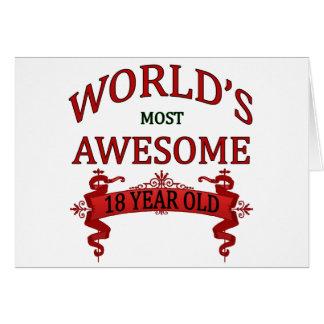 Años más impresionantes del mundo los 18 felicitacion