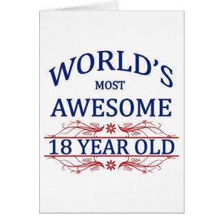 Años más impresionantes del mundo los 18 tarjeta de felicitación