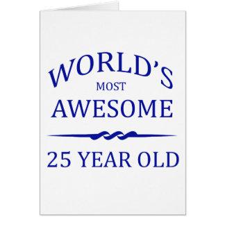 Años más impresionantes del mundo los 25 tarjeta de felicitación