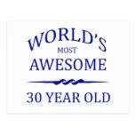 Años más impresionantes del mundo los 30 tarjeta postal