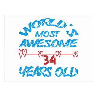 Años más impresionantes del mundo los 34 postal