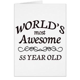 Años más impresionantes del mundo los 55 tarjeta de felicitación