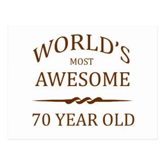 Años más impresionantes del mundo los 70 postal