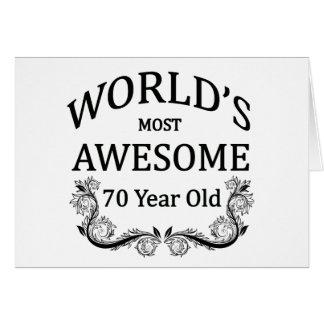 Años más impresionantes del mundo los 70 felicitaciones