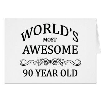 Años más impresionantes del mundo los 90 felicitación