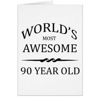 Años más impresionantes del mundo los 90 tarjeta