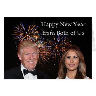 Años Nuevos de tarjeta del triunfo de Donald y de