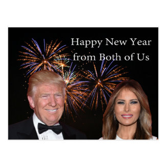 Años Nuevos de tarjeta del triunfo de Donald y de Postal