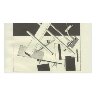 Ansioso negro del EL Lissitzky- Tarjeta Personal