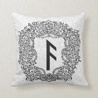 Ansuz-runa/prosperidad, vitalidad cojín decorativo