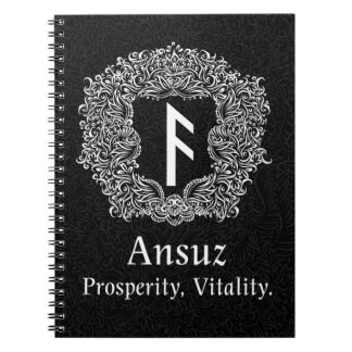 Ansuz-runa/prosperidad, vitalidad cuaderno
