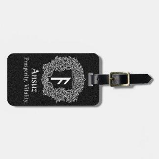 Ansuz-runa/prosperidad, vitalidad etiqueta para maletas