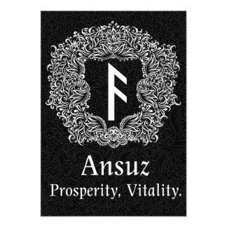 Ansuz-runa/prosperidad, vitalidad foto